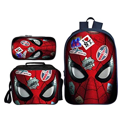 PERSONALISED school rucksack children/'s  kids boys New Spiderman Messenger bag