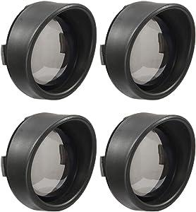 "PBYMT 4pcs Smoke Turn Signal Lens Cover 2"" Bullet Visor-Style Black Bezels Compatible for Harley Dyna Touring Street Glide Road Softail Custom Cruiser 2000-2020"