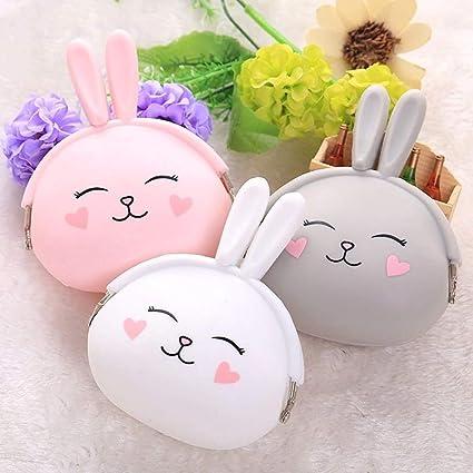 LQT Ltd Monedero Kawaii con diseño de Conejo de Dibujos ...