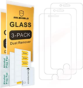 [3-Pack]-Mr.Shield for Apple iPhone SE 2020 2nd Generation (2020 ONLY) [270μ Glue Version] [Tempered Glass] Screen Protector with Lifetime Replacement
