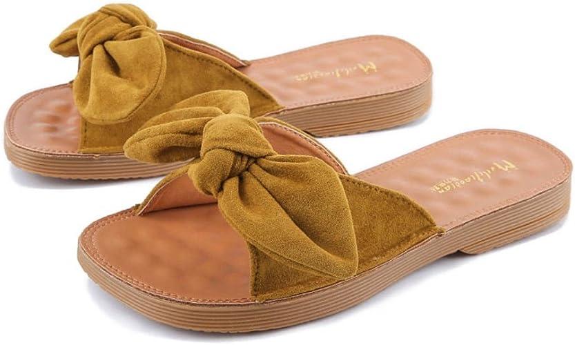 Zapatillas Corbata de moño de Verano para Mujer Playa Suave ...