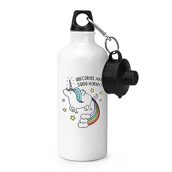 Unicornios son Sooo Horny Protectors deportes botella de ...