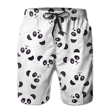 58466538e3c5f2 yting Motif drôle de Lancer de Panda Homme Short de Bain Séchage ...