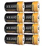 DULEX 8 Pack CR123A Rechargeable Batteries 16340