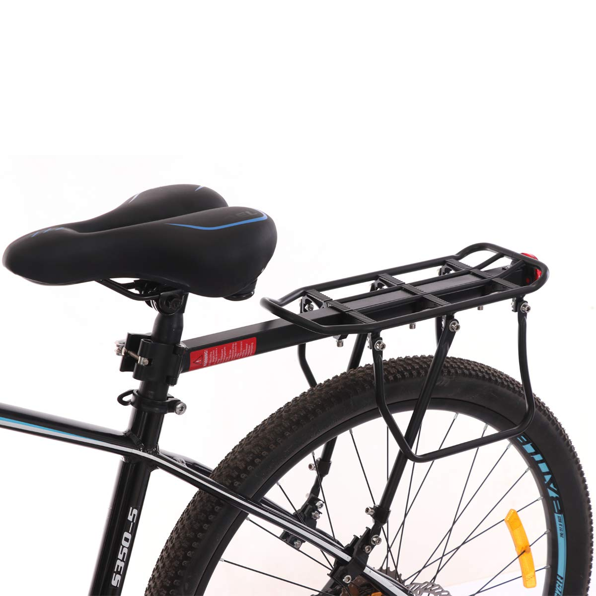TENGGO Vélo Vélo Mountain Bike Seat Poteau Arrière Rack Support Porte Bagage Charge 50Kg