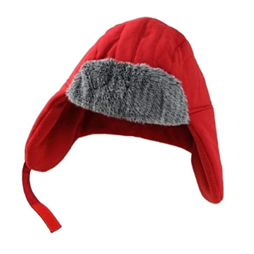 34e499ceaed83 Image Unavailable. Image not available for. Color  ABC Toddler Boys Red  Trapper Hat with Fur Trim aviator
