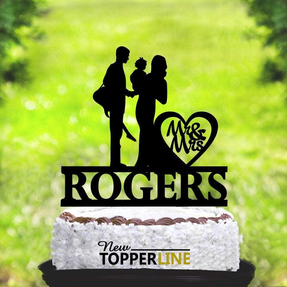 Decoración para tarta de boda, tocadiscos de guitarra, músicos de ...