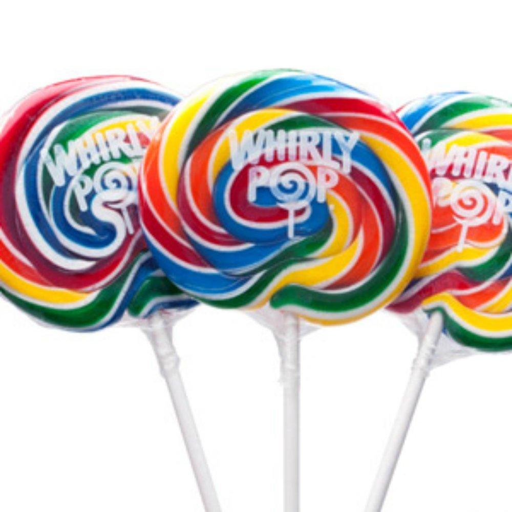 3 Inch Rainbow Whirly Pops 60 Lollipops