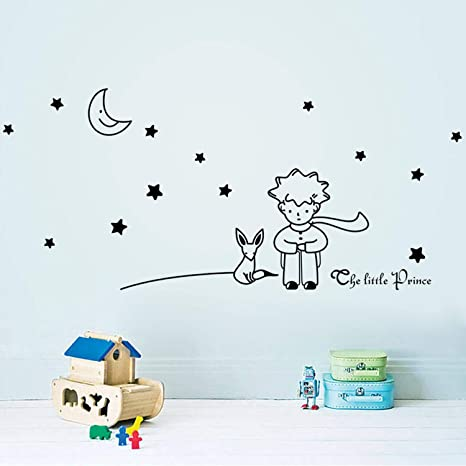 Chitop Popular Book Fairy Tale - The Little Prince with Fox Moon Star - Home Decor