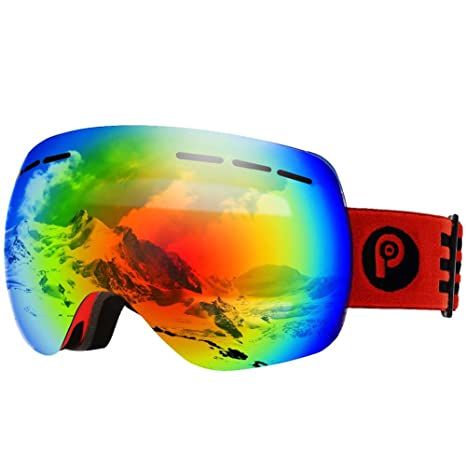f1bc52dad9 picador Ski Goggles PRO Over The Glasses with Detachable Dual Layer Anti-Fog  Lens for