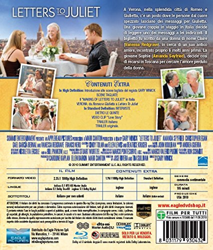 Letters To Juliet [Italia] [Blu-ray]: Amazon.es: Gael Garcia ...