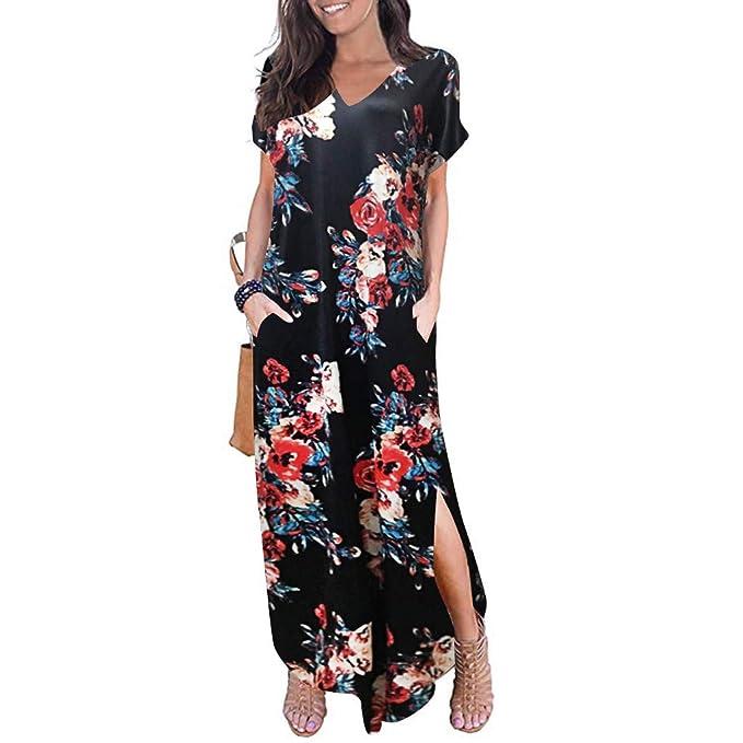 Amazon.com: Gibobby Maxi vestidos para mujer con bolsillos ...