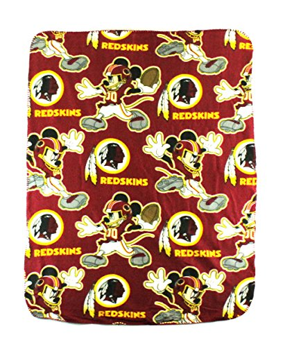 The Northwest Company NFL Washington Redskins Mickey Mouse Character Fleece Throw, 40 x (Washington Fleece Throw)