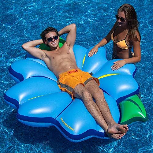 - Swimline Inflatable PVC Primrose Flower Relaxation Pool Float, Blue