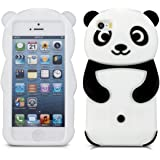 kwmobile ÉTUI EN SILICONE Design panda pour Apple iPhone SE / 5 / 5S Design stylé et protection optimale