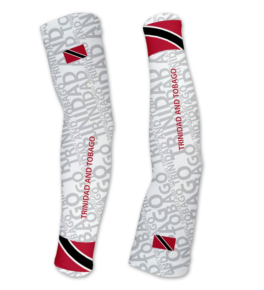 Trinidad And Tobago ScudoPro Compression Arm Sleeves UV Protection Unisex - Walking - Cycling - Running - Golf - Baseball - Basketball - Size XS