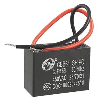 CBB61 Deckenventilator 2 Draht Motor Run Kondensator AC: Amazon.de ...