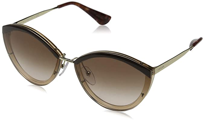 Prada 0PR 07US Gafas de Sol, Brown/Antique Pink 64 para ...