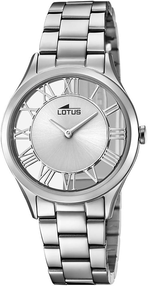 Lotus Reloj Analógico para Mujer de Cuarzo con Correa en Acero Inoxidable 18395/1