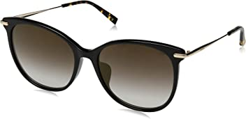 Max Mara Womens Mmneedleixfs Round Sunglasses, Black, ...