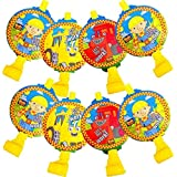 "Amscan Bob The Builder Birthday Party Blowouts, 5"", Yellow"