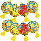 """Amscan Bob the Builder Party Blowouts Favour, Yellow, Plastic , 5"""", Pack of 8"""