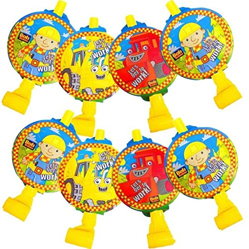 Bob The Builder Costume Toddler - Bob the Builder Party Blowouts Favour, Yellow, Plastic , 5