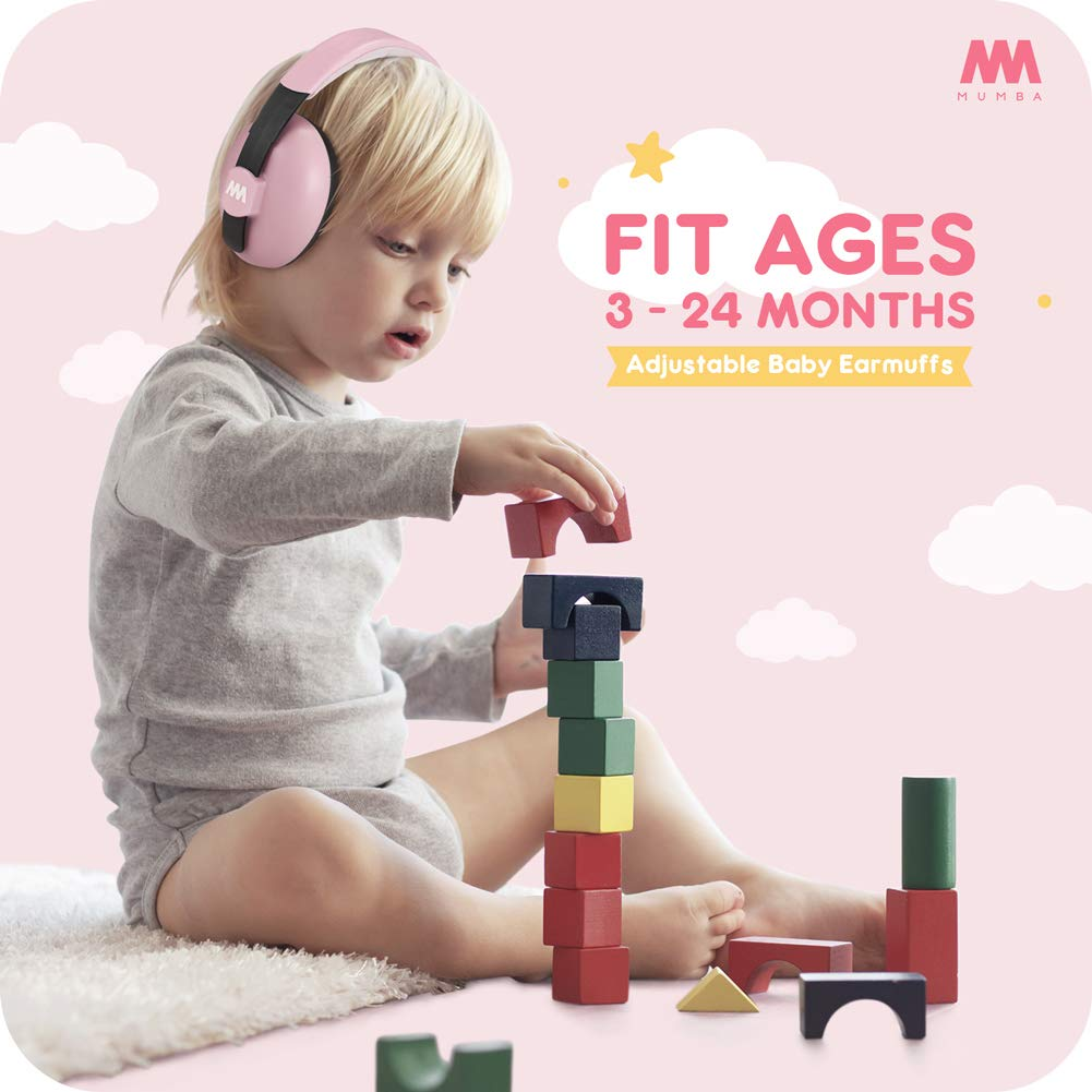 Baby Ear Protection Noise Cancelling Headphones for Babies and Toddlers - Mumba Baby Earmuffs - Ages 3-24+ Months - for Sleeping, Studying, Airplane, Concerts, Movie, Theater, Fireworks by Mumba (Image #2)