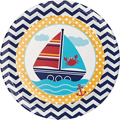 Ahoy Matey Nautical Paper Plates, 24 ct -
