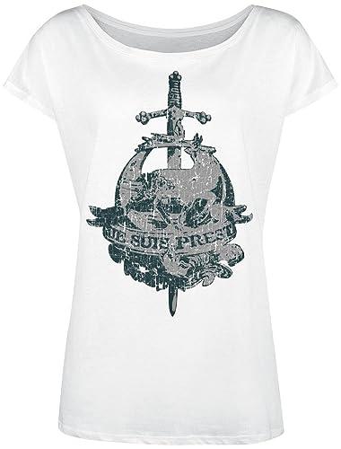 Outlander Je Suis Prest Camiseta Mujer Blanco