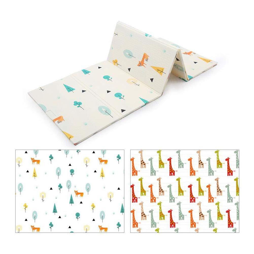MUMA プレイパッド、カーペット、クロールマット、両面パターン、ベビー厚みの環境保護Foldable Baby Child世帯 (色 : AB8, サイズ さいず : 200*180cm) 200*180cm AB8 B07NNXCB97