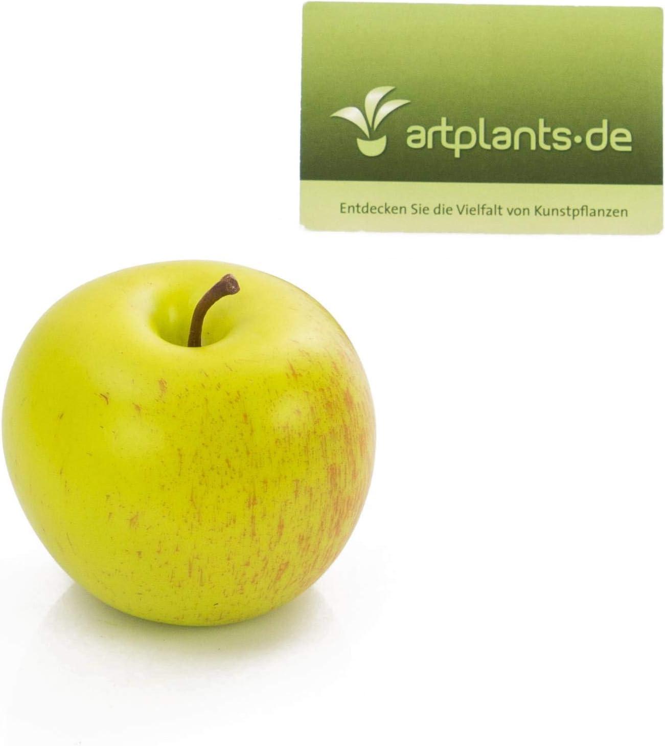 Fruit imitation//Decorative apple artplants.de Plastic apple /Ø 3.1//8cm green-red