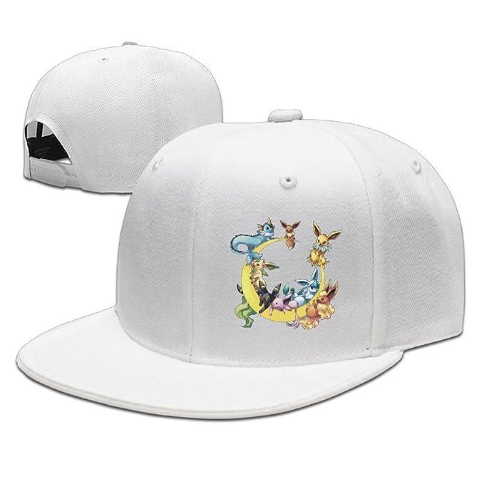 COOL Unisex Pokemon Eevee Moon Gorras de béisbol sombrero de hip ...