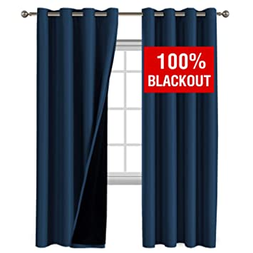 Amazoncom 100 Blackout Curtains 108 Inches Long Thermal Insulated