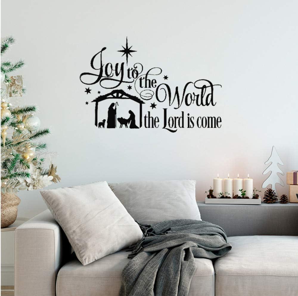 Amazon Com Cvccatg Joy To The World Wall Stickers Quotes