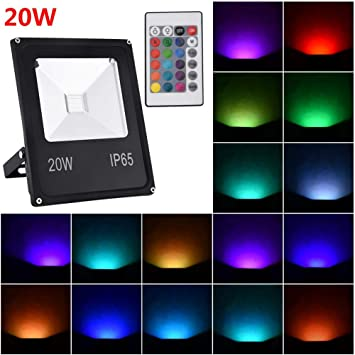 AIMERKUP Proyector LED RGB, luz Exterior, IP66 Impermeable, 6 ...