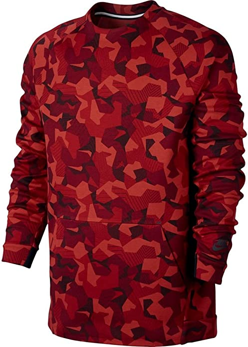 Nike Tech Fleece Camo Crew Sweat Shirt 823501 Jumper 392