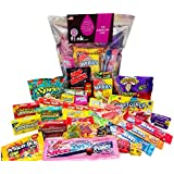 The American One | American Candy USA Gift Bag | Candy Hamper Sweets & Chocolate Selection Box Bundle | fink gifts | Contains: Airheads | Wonka | Nerds | Swedish Fish | Jolly Rancher | Gobstoppers | Mike and Ike | Sour Patch Kids | Laffy Taffy | Warheads Sour | Lemonheads | PLUS MANY MORE