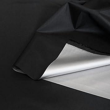 TOLKO Sonnenschutz Verdunklungsfolie/Verdunklungsstoff Meterware | hohe Lichtdichte mit Thermo-Beschichtung, als Fensterfolie