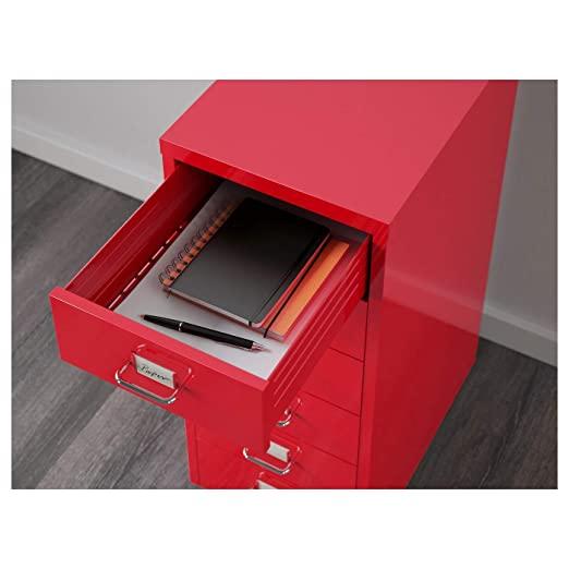 Ikea Helmer - Cajonera con Ruedas, Color Rojo, Completamente ...