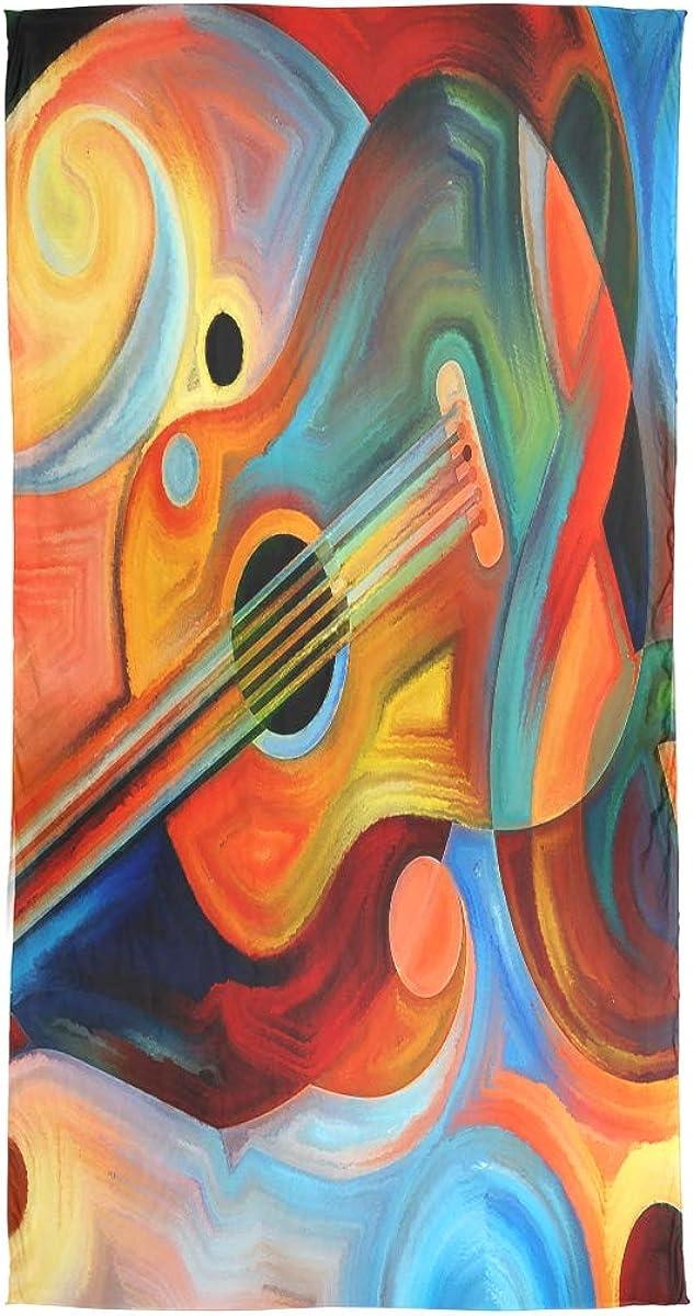 TFONE Scarfs for Women Lightweight Music Guitar Abstract Art Long ...