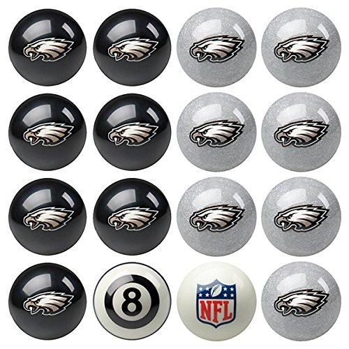 Imperial Officially Licensed NFL Merchandise: Home vs. Away Billiard/Pool Balls, Complete 16 Ball Set, Philadelphia Eagles