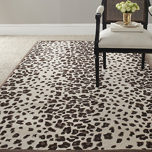 Safavieh MSR3621C Martha Stewart Collection Wool and Viscose Area Rug, 4-Feet by 6-Feet, Kalahari Sequoia Brown by Safavieh