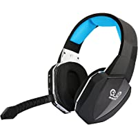 Wireless Optical USB Gaming Headset for PS4 PS3 Xbox 360 PC Computer Wired Headphones for Xbox one Over Ear Comfortable (Blue)