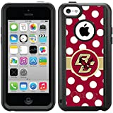Coveroo Boston College Polka Dots Design Phone Case for iPhone 5c - Retail Packaging - Black