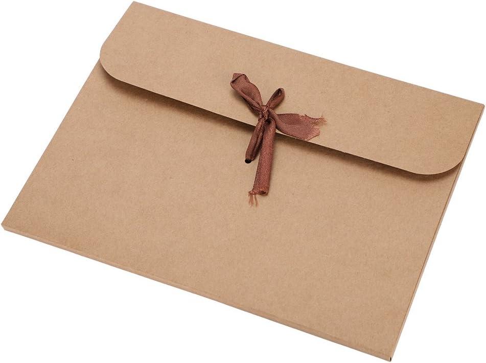 sobres para regalo tarjeta de felicitaci/ón Navidad boda sobres comerciales embalaje de regalo para invitaciones cumplea/ños 10 sobres de papel kraft reciclado