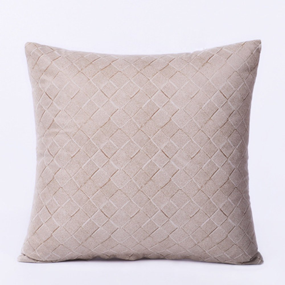 Solid Color Home Textile Pillowcase Imitation Leather Ramadan Decoration Pillow Cover White Blue Grey Sofa Throw Pillows Cover 45x45CM Sky Blue Coliang Beautiful Pillow Case