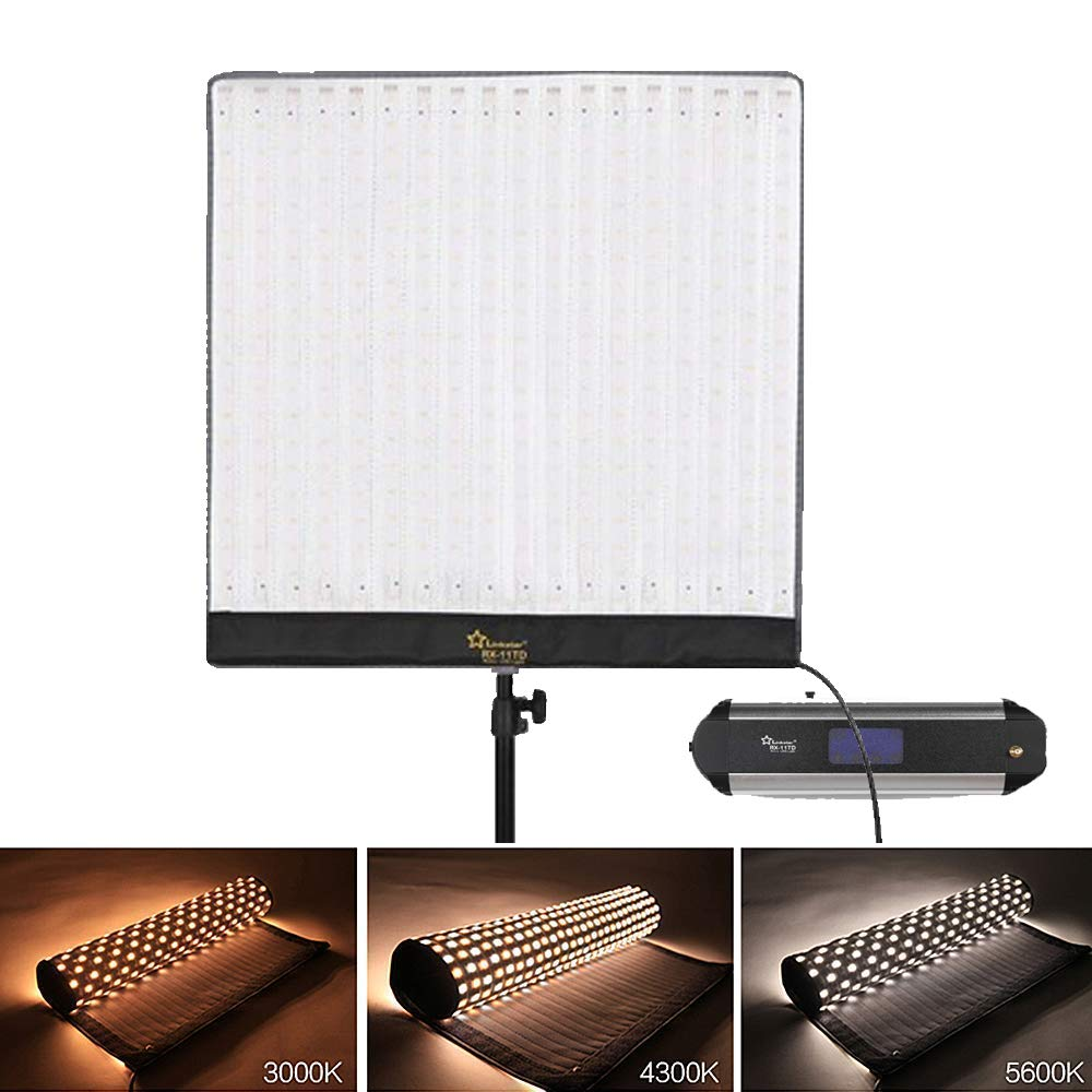 Linkstar RX-11TD 360 LEDs Roll-Flex Video Light 68W 3000K-5600K Bi-Color CRI95 Studio Lighting for Photography Lighting
