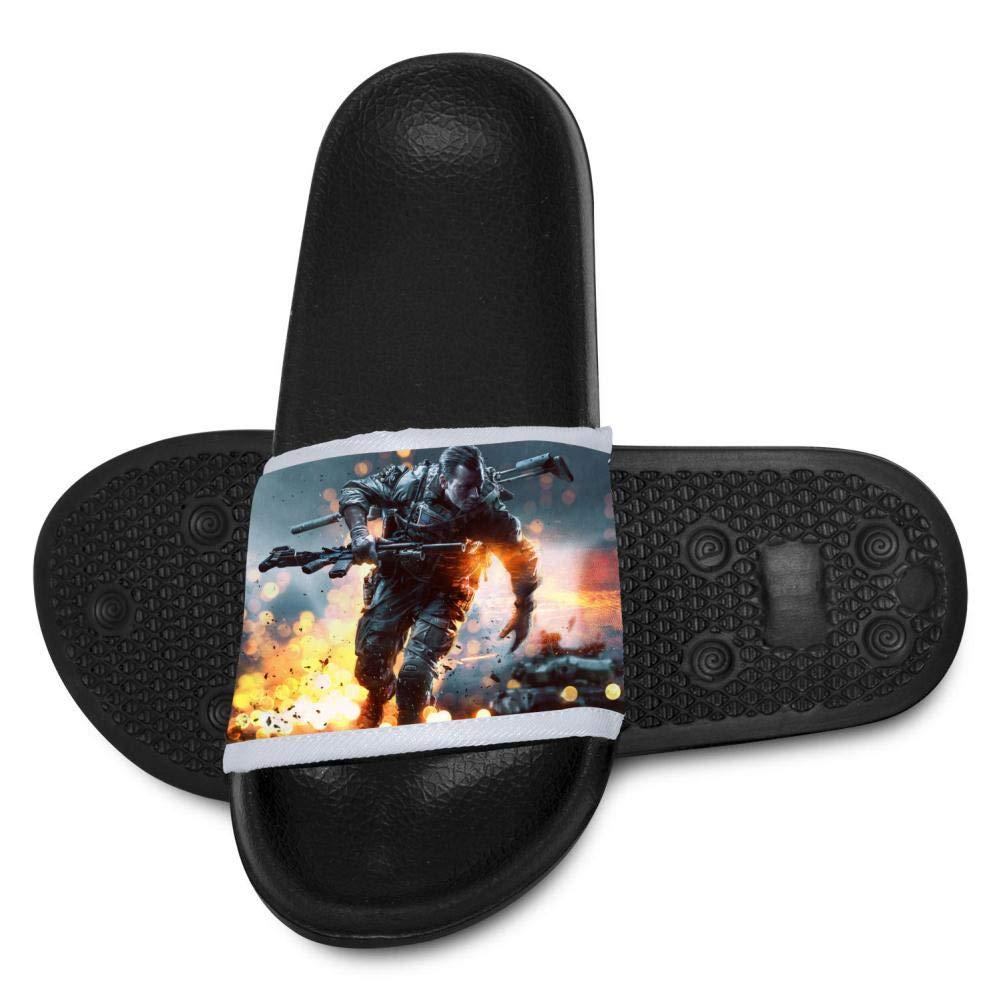 Battle-Field Youth Bath Slipper Anti-Slip for Indoor Home House Sandal 1 B(M)