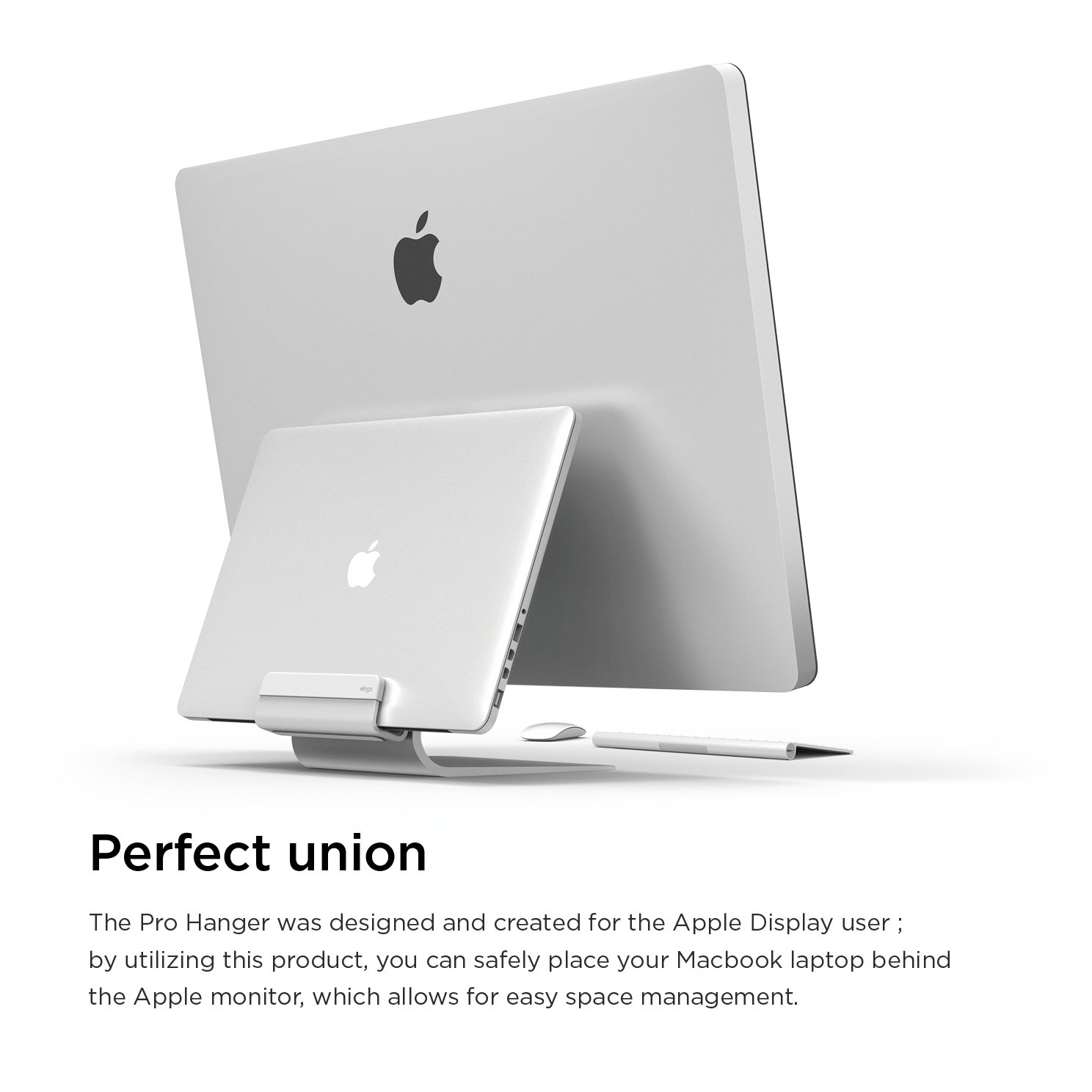 elago Pro Hanger for Mac - Laptop Shelf for iMac, Thunderbolt, and other Apple Displays by elago (Image #2)